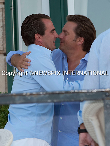 "PRINCE NIKOLAOS hugs friend_.A pre-Wedding eveing party on the island of Spetses prior to their wedding tomorrow at St Nikolaos Church_24/08/2010.Mandatory Credit Photo: ©DIAS-NEWSPIX INTERNATIONAL..**ALL FEES PAYABLE TO: ""NEWSPIX INTERNATIONAL""**..IMMEDIATE CONFIRMATION OF USAGE REQUIRED:.Newspix International, 31 Chinnery Hill, Bishop's Stortford, ENGLAND CM23 3PS.Tel:+441279 324672  ; Fax: +441279656877.Mobile:  07775681153.e-mail: info@newspixinternational.co.uk"