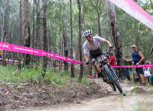 12th April 2018, Nerang Mountain Bike Trails, Gold Coast, Australia; Commonwealth Games day 8; Ben Oliver (NZL) during the Men's Cross-country Mountain Bike Race