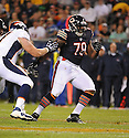 RONNIE CAMERON (79), of the Chicago Bears, in action during the Bears preseason game against the Denver Broncos on August 9, 2012 at Soldier Field in Chicago, IL. The Broncos beat the Bears 31-3.