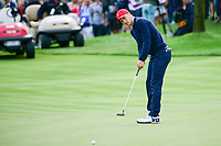 Jordan Spieth (USA) barely mises his putt on 3 during round 3 Four-Ball of the 2017 President's Cup, Liberty National Golf Club, Jersey City, New Jersey, USA. 9/30/2017.<br /> Picture: Golffile | Ken Murray<br /> <br /> All photo usage must carry mandatory copyright credit (&copy; Golffile | Ken Murray)
