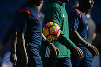 San Diego, CA - Sunday January 29, 2017: Officials, game ball during an international friendly between the men's national teams of the United States (USA) and Serbia (SRB) at Qualcomm Stadium.