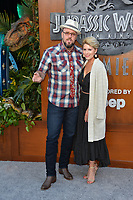 Chris Sullivan &amp; Rachel Reichard at the premiere for &quot;Jurassic World: Fallen Kingdom&quot; at the Walt Disney Concert Hall, Los Angeles, USA 12 June 2018<br /> Picture: Paul Smith/Featureflash/SilverHub 0208 004 5359 sales@silverhubmedia.com