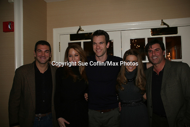 Cop on AMC, Jamie Luner, Adam Mayfield, Chrishell Stause, Vincent Irizarry at a benefit for American Lung Association on December 6, 2009 at Mezza on the Green at the Lawrence Country Club. (Photos by Sue Coflin/Max Photos)