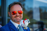 SUI-Christian Landholt with his little friend during the Prizegiving for the Government of South Australia CCI4*. 2018 AUS-Mitsubishi Motors Australian International 3 Day Event. Sunday 18 November. Copyright Photo: Libby Law Photography