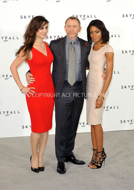 WWW.ACEPIXS.COM . . . . .  ..... . . . . US SALES ONLY . . . . .....November 3 2011, London....Berenice Marlohe, Naomie Harris and Daniel Craig at the launch of 'Skyfall', the 23rd James Bond movie on November 3 2011 in London....Please byline: FAMOUS-ACE PICTURES... . . . .  ....Ace Pictures, Inc:  ..Tel: (212) 243-8787..e-mail: info@acepixs.com..web: http://www.acepixs.com