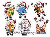 Interlitho-Theresa, CHRISTMAS SANTA, SNOWMAN, WEIHNACHTSMÄNNER, SCHNEEMÄNNER, PAPÁ NOEL, MUÑECOS DE NIEVE, paintings+++++,6 santas,KL6148,#x#,sticker,stickers