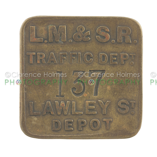 London, Midland, & Scottish Railway token for Lawley Street Depot in Birmingham