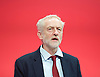 Labour Party Conference <br /> Day 4<br /> 30th September 2015 <br /> Brighton Centre, Brighton, East Sussex <br /> <br /> <br /> Jeremy Corbyn MP<br /> Leader of the Labour Party <br /> at conference closing sings The Red Flag <br />  <br /> Photograph by Elliott Franks <br /> Image licensed to Elliott Franks Photography Services