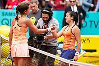 German Julia Gorges and Spanish Lara Arruabarrena during Mutua Madrid Open 2018 at Caja Magica in Madrid, Spain. May 07, 2018. (ALTERPHOTOS/Borja B.Hojas) /NortePhoto.com