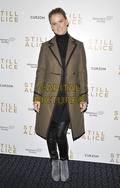 LONDON, ENGLAND - FEBRUARY 05: Alice Eve attends the &quot;Still Alice&quot; VIP film screening, Curzon Mayfair cinema, Curzon St., on Thursday February 05, 2015 in London, England, UK. <br /> CAP/CAN<br /> &copy;CAN/Capital Pictures
