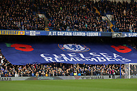 Chelsea Remembers banner during Chelsea vs Everton, Premier League Football at Stamford Bridge on 11th November 2018