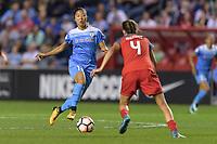 Bridgeview, IL - Saturday August 12, 2017: Yuki Nagasato during a regular season National Women's Soccer League (NWSL) match between the Chicago Red Stars and the Portland Thorns FC at Toyota Park. Portland won 3-2.