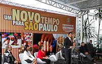 SAO PAULO, SP, 11 JANEIRO 2013 - POSSE SECRETARIO DIREITO HUMANOS - Prefeito Sao Paulo, Fernando Haddad (PT) durante a cerimônia de posse do secretário Rogério Sotilli que assume o lugar de Jose Gregorio como Presidente da Comissão de Direitos Humanos do Município de São Paulo. A cerimonia realizada na manha desta sexta-feira(11) no jardim interno do Pátio do Colégio na Rua Bela Vista regiao central de Sao Paulo. (FOTO: AMAURI NEHN / BRAZIL PHOTO PRESS).
