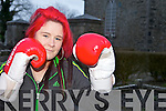 THE GLOVES ARE OFF: Kilflynn boxer, Niamh Ball who will be taking part in the Golden Girl tournament in Sweden this week.