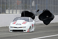 Feb 9, 2020; Pomona, CA, USA; NHRA pro stock driver Steve Graham during the Winternationals at Auto Club Raceway at Pomona. Mandatory Credit: Mark J. Rebilas-USA TODAY Sports
