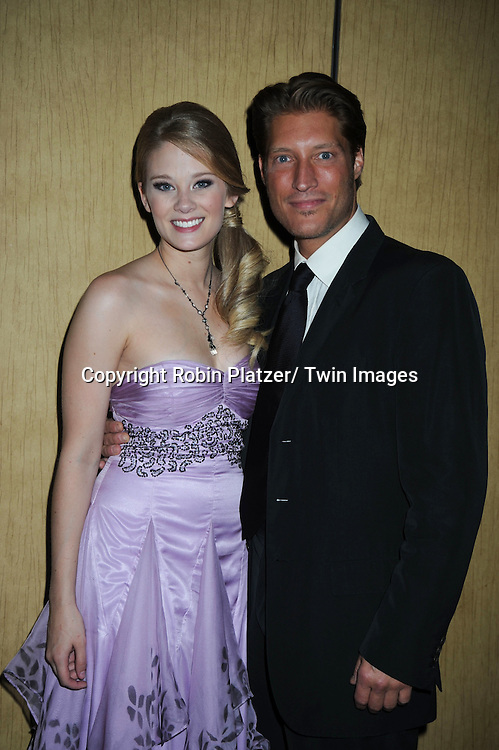 Kimberly Matula and Sean Kanan  posing at  the after party at the  Daytime Emmy Awards on June 27, 2010 at the Hilton at Las Vegas in Nevada.