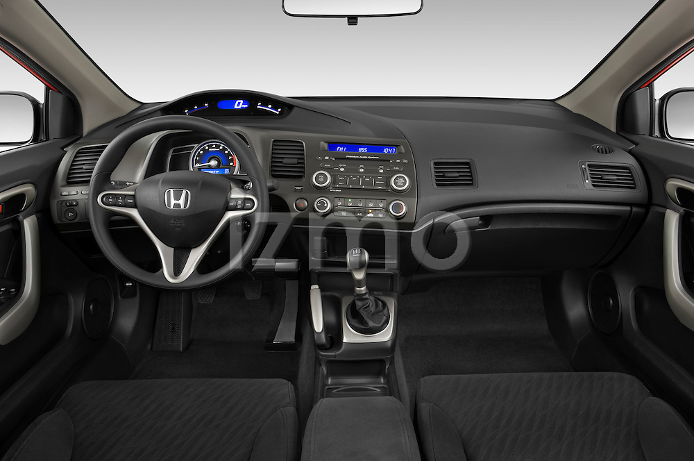 Awesome Straight Dashboard View Of A 2009 Honda Civic Coupe EX.