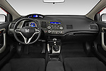 Straight dashboard view of a 2009 Honda Civic Coupe EX.