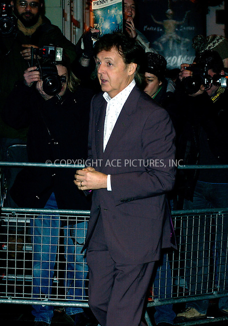 WWW.ACEPIXS.COM . . . . .  ... . . . . US SALES ONLY . . . . .....LONDON, FEBRUARY 17, 2005....Paul McCartney at the 2005 NME Awards held at Hammersmith Palais.....Please byline: FAMOUS-ACE PICTURES- P. POPE... . . . .  ....Ace Pictures, Inc:  ..Philip Vaughan (646) 769-0430..e-mail: info@acepixs.com..web: http://www.acepixs.com