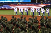 Bandera de Puerto Rico.<br /> Aspectos del partido Mexico vs Italia, durante Cl&aacute;sico Mundial de Beisbol en el Estadio de Charros de Jalisco.<br /> Guadalajara Jalisco a 9 Marzo 2017 <br /> Luis Gutierrez/NortePhoto.com<br /> <br /> <br /> CLASISSIC, CLASICO
