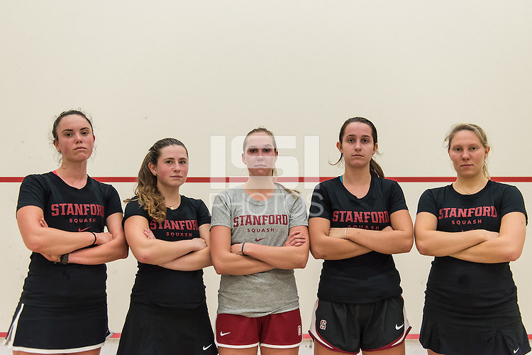 STANFORD, CA - November 13, 2015: The Stanford Cardinal 2015-2016 Women's Squash Team