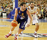 Spain's Jose Manuel Calderon (l) and USA's Deron Williams during friendly match.July 24,2012. (ALTERPHOTOS/Acero)