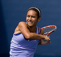 Heather Watson (GBR) (11) against Yana Buchina (RUS) in the final of the Junior Girl's Singles. Watson beat Buchina 6-4 6-1..International Tennis - US Open - Day 14  Sun 13 Sep 2009 - USTA Billie Jean King National Tennis Center - Flushing - New York - USA ..© Frey Images, Barry House, 20-22 Worple Road, London, SW19 4DH.Tel - +44 20 8947 0100.Cell - +44 7843 383 012.Email - mfrey@advantagemedianet.com