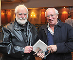 Fr Miche&aacute;l Mac Gr&eacute;il talking with Robert Fisk at the Rolling Sun Book Festival in Westport over the weekend.<br /> Pic Conor McKeown