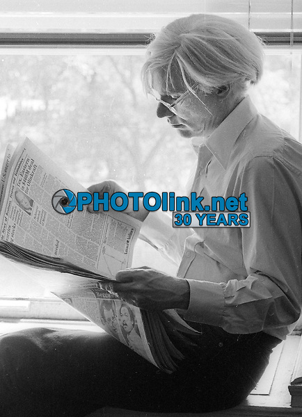 Andy Warhol 1979<br /> Photo By Adam Scull/PHOTOlink.net