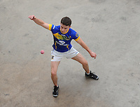 21st September 2013; Fergal Collins, Tipperary, in action in the Intermediate Singles Final. GAA Handball, All-Ireland Finals, Broadford Handball Club, Co Limerick. Picture credit: Tommy Grealy/actionshots.ie.