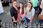 Pictured queuing for the Union J concert at Denny Street on Friday were: Joanne O'Neill, Sophie and Danielle Flynn (Ballyduff).