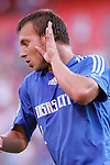 July 1 2007:  Michael Harrington (2) celebrates his goal.  The MLS Kansas City Wizards tied the visiting Toronto FC 1-1 at Arrowhead Stadium in Kansas City, Missouri, in a regular season league soccer match.