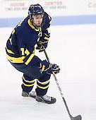 Joe Cucci (Merrimack - 14) - The visiting Merrimack College Warriors defeated the Northeastern University Huskies 4-3 (OT) on Friday, February 4, 2011, at Matthews Arena in Boston, Massachusetts.