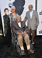 "LOS ANGELES, USA. June 04, 2019: Jacqueline Avant, Billye Aaron, Hank Aaron & Clarence Avant at the premiere for ""The Black Godfather"" at Paramount Theatre.<br /> Picture: Paul Smith/Featureflash"