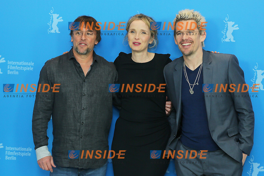 Richard Linklater, Julie Delpy, Ethan Hawke. Berlin 11/02/2013. 63th Berlinale 'Before Midnight' photocall. foto Mark Cape/Insidefoto
