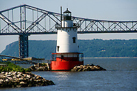 LIGHTHOUSE<br /> Tarrytown, NY Lighthouse<br /> <br /> It was originally lit in 1883 with a fourth order Fresnel lens to warn of the Tarrytown Shoals. The light was automated in 1957 and deactivated in 1963 when construction of the Tappenzee Bridge made it obsolete.