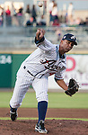 Reno Aces starting pitcher Randall Delgado throws against the Fresno Grizzlies during their game played on Friday night, April 26, 2013 in Reno, Nevada.
