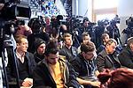 13.02.2020, Sportpark, Berlin, GER, 1.FBL, DFL,, Hertha BSC PK,<br /> DFL, regulations prohibit any use of photographs as image sequences and/or quasi-video<br /> im Bild Teilnehmer :<br /> Werner Gegenbauer (Hertha BSC Berlin)<br /> Lars Windhorst,<br /> Manager Michael Preetz (Hertha BSC Berlin)<br /> <br />       <br /> Foto © nordphoto / Engler