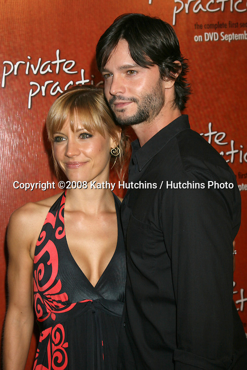 "KaDee Strickland & Jason Behr  arriving at the ""Private Practice"" Season One DVD Launch Party at the Hollywood Roosevelt Hotel  in  Los Angeles, CA on.September 2, 2008.©2008 Kathy Hutchins / Hutchins Photo...."