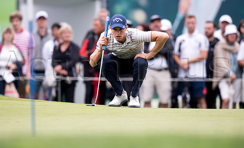 25th June 2017, Golf, Moosinning, Germany;  Belgian  Thomas Detry in action at the men's singles 4th round at the International Open European Tour in Moosinning, Germany, 25 June 2017.