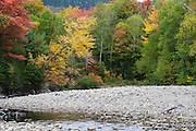 Zealand River in Bethlehem, New Hampshire USA during the autumn months.
