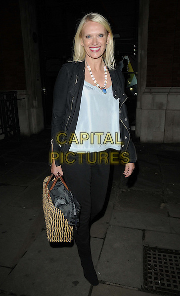 Anneka Rice.The 'Mamma Mia!' gala performance afterparty, London Transport Museum, Covent Garden Piazza, London, England..September 12th, 2012.full length black jeans denim jacket blue top.CAP/CAN.©Can Nguyen/Capital Pictures.