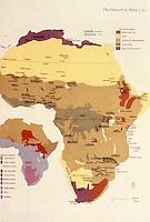Africa:  Map of Africa--Vegetation Zones, Language Groups.  Photo '92.