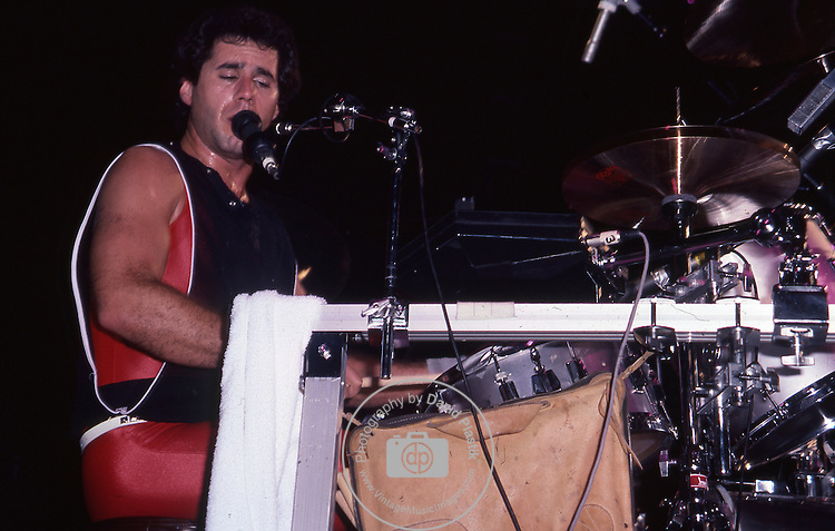 Kelly Keagy of Night Ranger Night Ranger in the U.S in 1984
