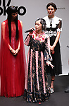 September 9, 2017, Tokyo, Japan - Japanese singer Mika Nakashima speaks after she performed before thousands of shoppers at the opening ceremony for the Vogue Fashion's Night Out 2017 in Tokyo on Saturday, September 9, 2017. Some 630 shops participated one-night fashion shopping event in Tokyo. (Photo by Yoshio Tsunoda/AFLO) LWX -ytd-