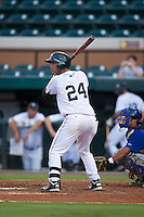 GCL Tigers Jesus Ustariz #24 during a Gulf Coast League game against the GCL Blue Jays at Joker Marchant Stadium on July 16, 2012 in Lakeland, Florida.  GCL Blue Jays defeated the GCL Tigers 4-3.  (Mike Janes/Four Seam Images)