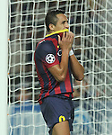 06.11.2013 Barcelona, Spain. Uefa Champions League Matchday 4 group H. Picture show Alexis Sanchez in action during game between FC Barcelona against AC Milan at Camp Nou