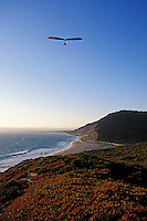 California, Santa Cruz County, Hang gliding on the coast