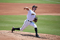 Bradenton Marauders starting pitcher Nicholas Economos (44) during a Florida State League game against the Tampa Tarpons on May 26, 2019 at LECOM Park in Bradenton, Florida.  Bradenton defeated Tampa 3-1.  (Mike Janes/Four Seam Images)
