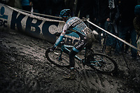 Dieter Vanthourenhout (BEL/Marlux-Napoleon Games) skidding his way through the mud<br /> <br /> Elite Men's Race<br /> CX Vlaamse Druivencross Overijse 2017